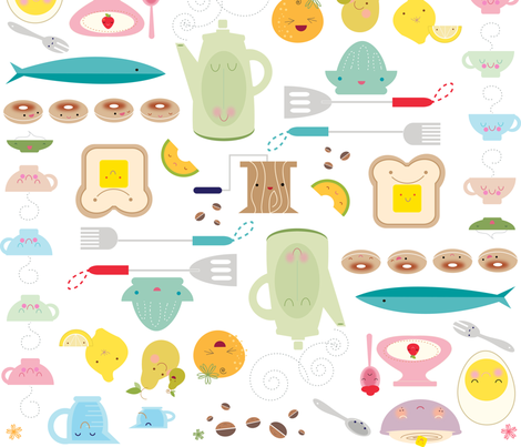 Rise & Shine Diner fabric by mary_peeps on Spoonflower - custom fabric