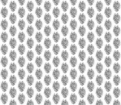 pine cone small  fabric by annemclean on Spoonflower - custom fabric