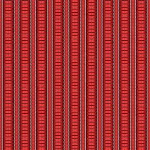 Red Stripe with Black Split