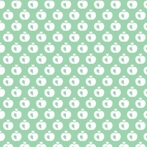 Apples in pastel retro scandinavian style spring summer fruit mint green
