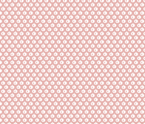 Apples in pastel retro scandinavian style spring summer fruit soft pastel pink fabric by littlesmilemakers on Spoonflower - custom fabric