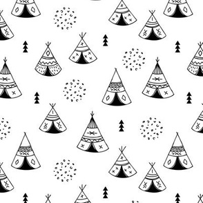 New Indian summer geometric scandinavian woodland hippie camping trip gender neutral black and white