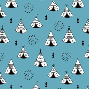New Indian summer winter geometric scandinavian woodland hippie camping trip blue navy