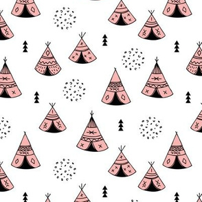 New Indian summer geometric scandinavian woodland hippie camping trip sweet girls pink