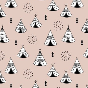 New Indian summer geometric scandinavian woodland hippie camping trip gender neutral beige