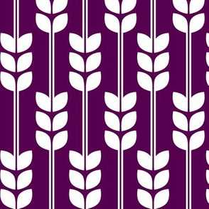 Wheat - White on Plum