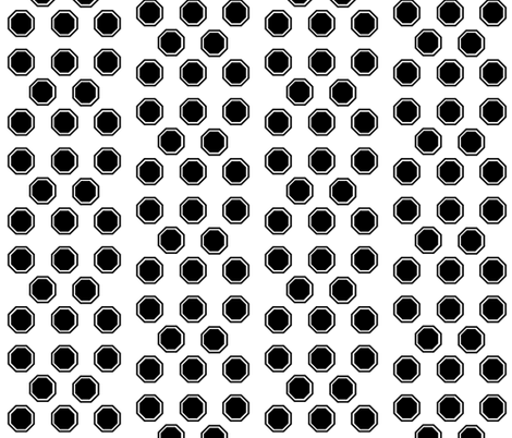 Black Octagon 2 fabric by r2mdesigns on Spoonflower - custom fabric