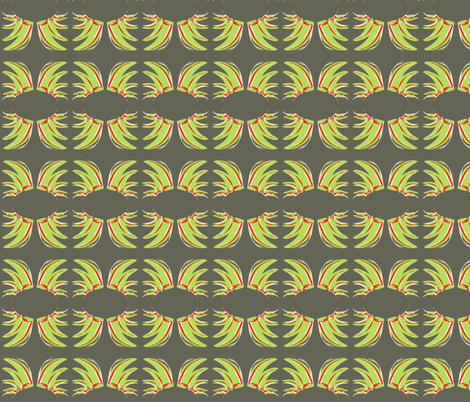 Fanned Leaves Crossing fabric by rhondadesigns on Spoonflower - custom fabric