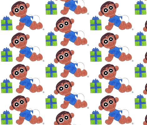 Birthday Baby Boy fabric by r2mdesigns on Spoonflower - custom fabric