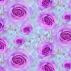 Lavender Scattered Rose Petals