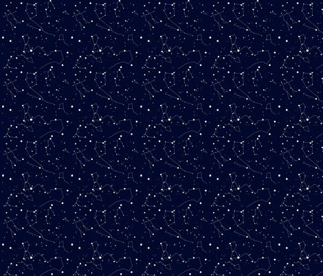 Stars in my Blue Skies fabric by sharksvspenguins on Spoonflower - custom fabric