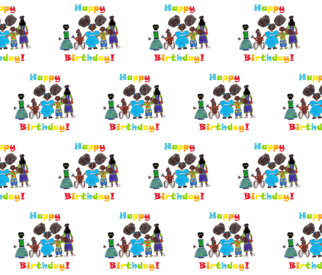 Birthday Girls fabric by r2mdesigns on Spoonflower - custom fabric