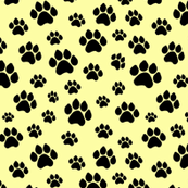 Doggie Paws on Yellow - Small