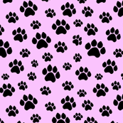 Doggie Paws on Pink - Small