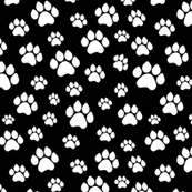 Doggie Paws - Black - Small