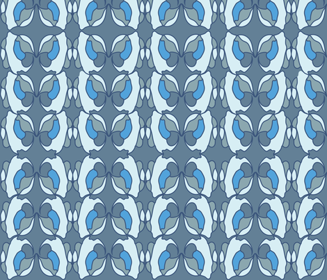 blues abstract orchid fabric by snap-dragon on Spoonflower - custom fabric