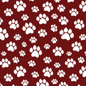 Doggie Paws - Maroon - Small