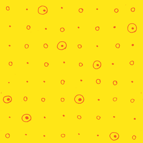 Dots-orange/yellow fabric by atlas_&_tootsie on Spoonflower - custom fabric