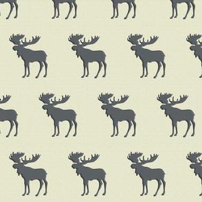 Textured Moose on Gray