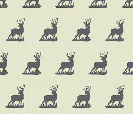 deer_textured_full_body fabric by sproutz on Spoonflower - custom fabric