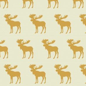 Textured linen moose gold