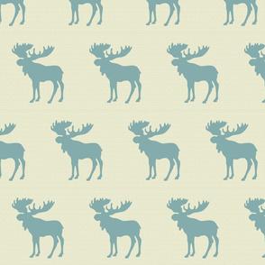 Textured moose linen teal