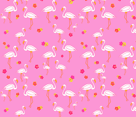 Flamingo Fantasy Pink Version 2 fabric by bags29 on Spoonflower - custom fabric