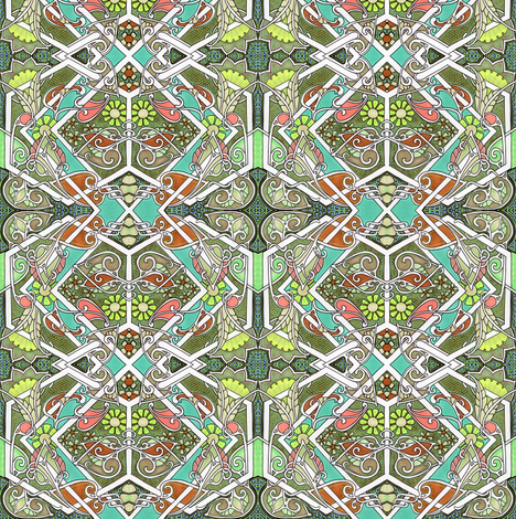Which X Marks the Spot fabric by edsel2084 on Spoonflower - custom fabric