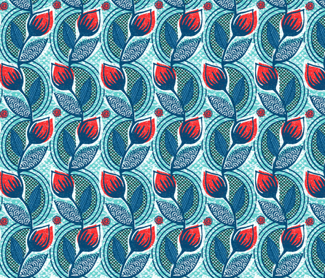 tulip garden - spring fabric by ottomanbrim on Spoonflower - custom fabric