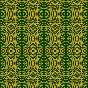 Native Weaving Gold Green