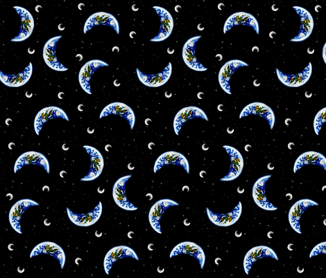 Pastel Planet Earth fabric by sharksvspenguins on Spoonflower - custom fabric