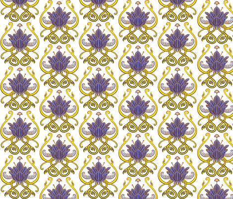 Nouveau Flower Rococo Architecture 2 Coordinate fabric by jadegordon on Spoonflower - custom fabric