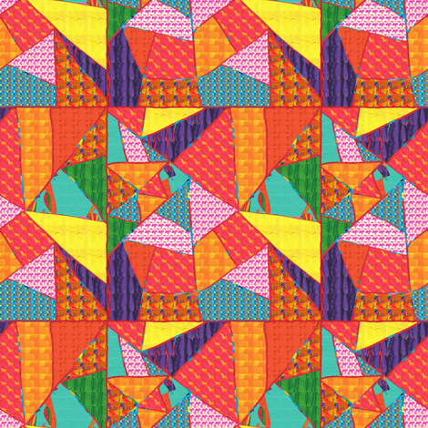 Spider Web Crazy Quilt fabric by anniedeb on Spoonflower - custom fabric
