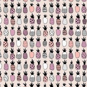 Trendy summer spring geometric pineapple fruit scandinavian style pink lilac