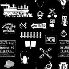 Railroad Symbols - Black // Small