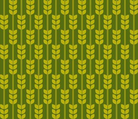 Wheat - Olive fabric by carabaradesigns on Spoonflower - custom fabric
