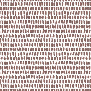 Strokes and stripes abstract scandinavian style brush design gender neutral brown XS