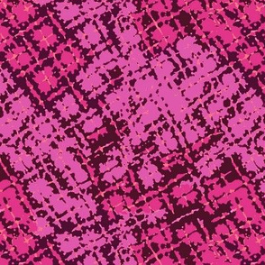 Distorted Plaid in Bodacious, Raspberry and Wine