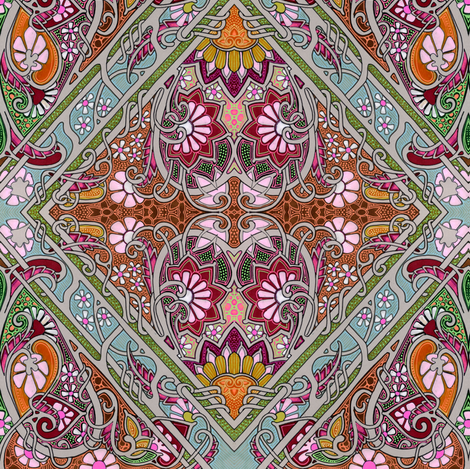 Queen Victoria Does the Twist fabric by edsel2084 on Spoonflower - custom fabric