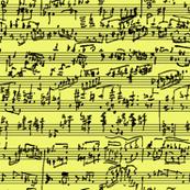 Hand Written Sheet Music //  Yellow