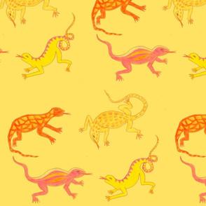 Yellow Lizards by Sara Aurora Waters