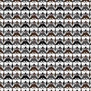 Simple Siberian Husky faces - small