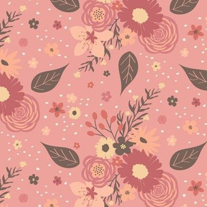 Floral Mix -Coral