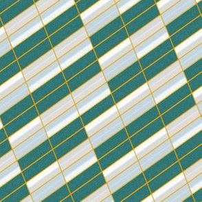 Glitch Stripe - greenhouse