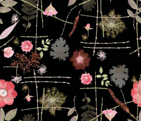 Pink rose Garden fabric by mypetalpress on Spoonflower - custom fabric