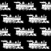 Steam Engine on Black - Large