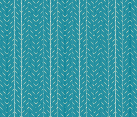 teal_herringbone fabric by sproutz on Spoonflower - custom fabric