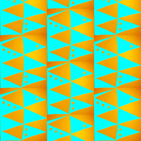 Copper Turquoise Triangles fabric by eve_catt_art on Spoonflower - custom fabric