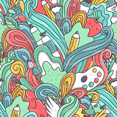painting doodle pencil pattern