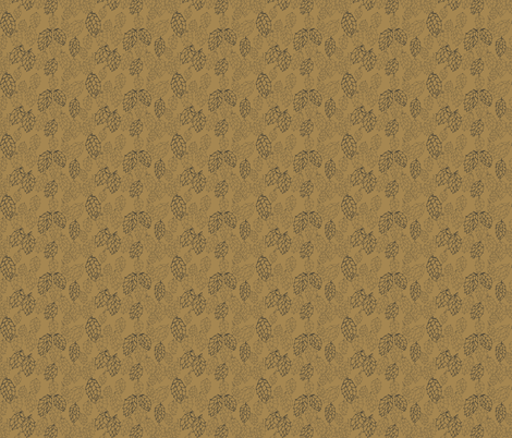 Mustard Hop Haze fabric by a_bushel_of_hops on Spoonflower - custom fabric